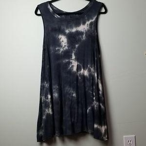 Acemi tie die black summer dress
